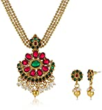 Ava Jewellery Set for Women (Gold) (S-O-...