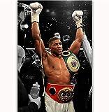 MZCYL Leinwand Malerei Wandkunst Bild Anthony Joshua Klitschko Boxing Champion Boxer Poster Drucken Leinwand Malerei Ohne Rahmen 40 * 60 cm