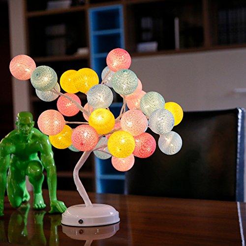 Neuheit Lichter String (Valentinstag Geschenke für Freundin Sweetheart Sweetheart Segnungen Freunde Geburtstag Geschenke kreativ Neuheit Baumwolle lampe Macarons (basic Farbe)