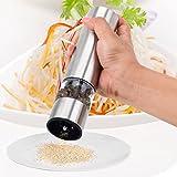 Comenzar Moulin à sel et poivre électrique en acier inoxydable avec broyeur en Céramique réglable Salière et poivrière avec LED