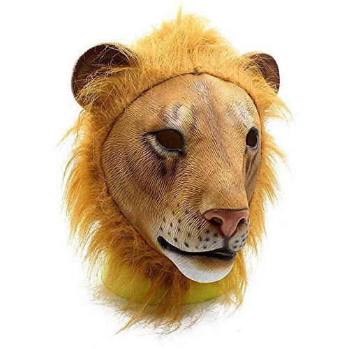 or Crazy Tier City Lion Kopf Maske Latex Tier Karneval Performance Erwachsene Requisiten Kopfbedeckung ()