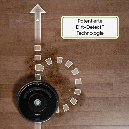 iRobot Roomba 650 Staubsaug-Roboter (Zeitplan einstellbar, 1 Virtuelle Wand) schwarz - 5