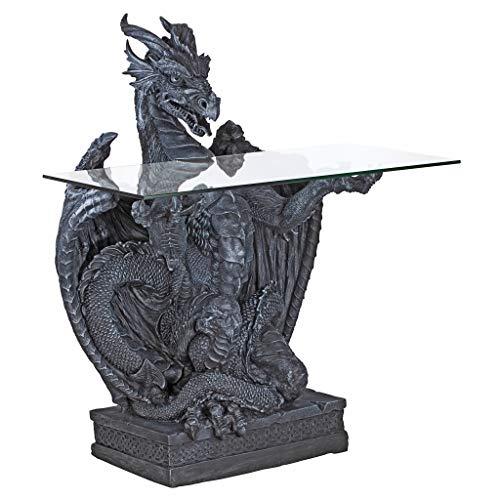 ienstbare Drache, Skulpturaler Tisch mit Glasplatte ()