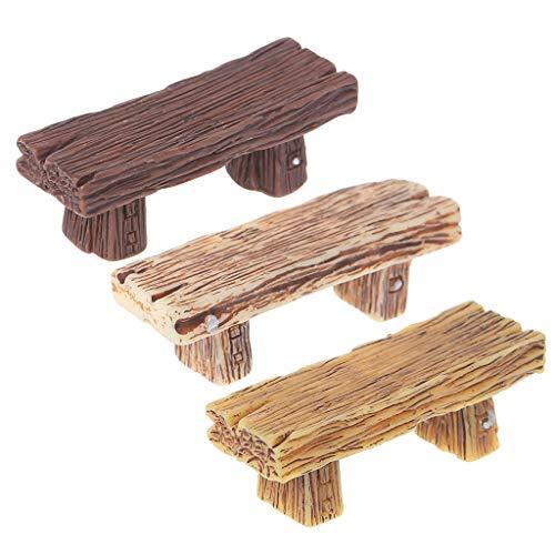 (ruiruiNIE Retro Stuhl Miniaturen Figuren Bonsai Ornamente DIY Micro Landschaft Wohnkultur)