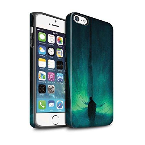 Offiziell Chris Cold Hülle / Matte Harten Stoßfest Case für Apple iPhone 5/5S / Pack 10pcs Muster / Dunkle Kunst Dämon Kollektion Bösen Herzens