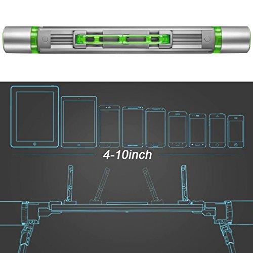 First2savvv LR-MTL2-13D02 Supporto da tavolo, Regolabile Perno Universal 3.5-14 Pollici Supporto per iPad Pro Mini / iPad Mini 4 / iPhone 6s / 6s Plus / Samsung Galaxy S7 S6 / Galaxy Note 10.1 / Huawe SJ-HY-06D02 + luce LED USB