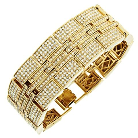 Iced Out Bling Hip Hop Bracelet Armband - MILLIONAIRE gold