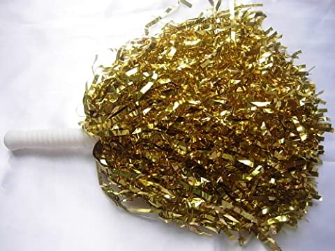 5 Pairs Gold Cheerleading Pom Poms Hen party Fancy