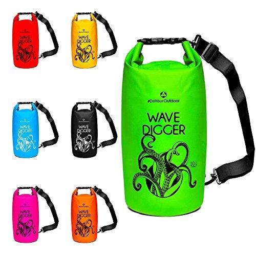 Dry Bag 2Liter 5Liter 10Liter 20Liter 30Liter & 40Liter Wasserdichte Trockentasche Seesack Survival Bag Trockensack - für Kajak Kanu Segeln Angeln Schwimmen Strand Bootfahren Camping Krake 20L rot