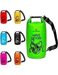 Dry Bag »Krake« Wasserdichte Trockentasche / Seesack / Survival Bag / Trockensack / Ideal für Kajak, Kanu, Segeln, Angeln, Schwimmen, Strand, Snowboarden, Skifahren, Bootfahren, Camping / Schützt Deine Wertsachen und Kleidung vor Staub, Nässe, Sand und Schmutz - der wasserfeste Packsack / Sack ist erhältlich in 2Liter / 5Liter / 10Liter / 20Liter / 30Liter & 40Liter