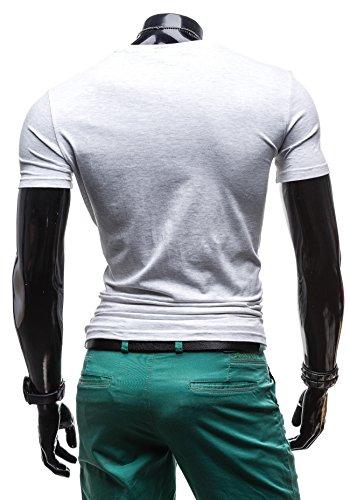 BOLF - T-shirt con maniche corte �?GLO STORY 7483 �?Uomo Grigio