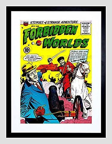 SUPER HERO COVER ACG BOOK FORBIDDEN WORLDS 57 VINTAGE COMIC FRAMED PRINT B12X421