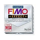 STAEDTLER FIMO Effekt Effekt Polymer Metallic silber (81) FIMO Modelliermasse Ton Block Backofen backen Farbe breiter Bilderrahmen 56 G (1 Stück)
