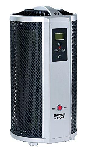 Einhell Wärmewellenheizung WW 2000 R (Mica-Heizelement bis 2000 Watt, Zeitschaltuhr, Thermostat,  Fernbedienung, Frost- und Kippschutz, LCD-Display)