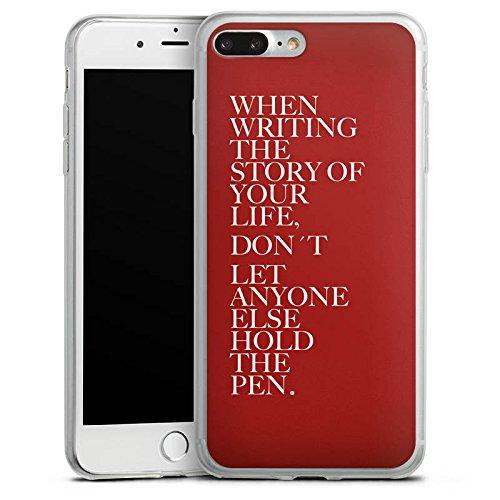 Apple iPhone 8 Slim Case Silikon Hülle Schutzhülle Sprüche Statement Rot Silikon Slim Case transparent