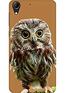 AMEZ designer printed 3d premium high quality back case cover for HTC Desire 728 (Little Owl in God's eyes)