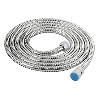 Angle Simple L1300 Stainless Steel Extra Long Replacement Shower Hose 118-Inch (3-Meter), Chrome