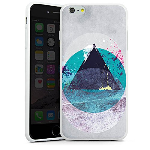 Apple iPhone X Silikon Hülle Case Schutzhülle Kreis Dreieck Klecks Silikon Case weiß