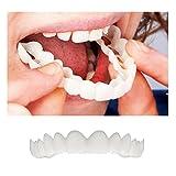 JYC,Cosmético Odontología Instante Sonreír Uno tamaño Comodidad Ajuste Flexionar Dientes Dentadura Parte superior Cosmético Chapa Dentadura Cuidado Chapa dental Simulation braces (Blanco)