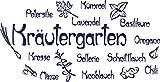 GRAZDesign Küche dekorieren Kräutergarten - Geschenk Frau Geburtstag Kräuter - Sprüche Wandtattoo Gewürze - Wandtattoo Küche Viele Farben / 78x40cm / königsblau / 620239_40_049