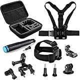 SHOOT 11 en 1 Kit de Accesorios Deportes al aire libre Bundle para GoPro Hero Session/GoPro Hero 7 6 5 4 3+ 3 2 1 SJCAM SJ4000 SJ5000 SJ6000 Lightdow / Xiaomi Yi / WiMiUS / DBPOWER / Cámara de Acción APEMAN / Action Camera Campark