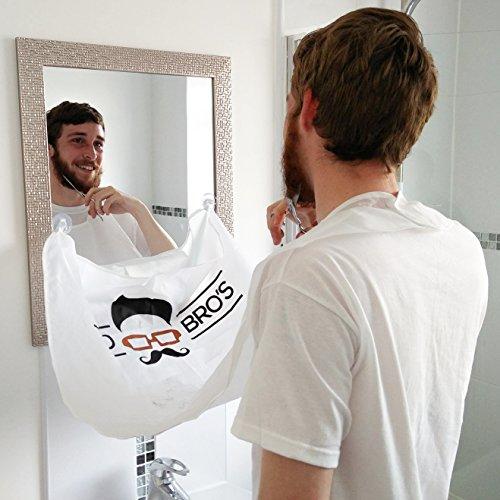 Mo Bro's Beard Bib – Grooming and Shaving Hair Catcher (Perfect Gift)