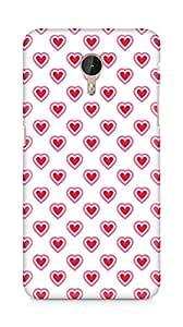 Amez designer printed 3d premium high quality back case cover for LeEco Letv Le Pro (Heart Pattern7)