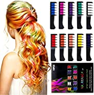 ADDCOOL Hair Chalk Comb Temporary Hair Color Dye for Kid Girls Party Cosplay DIY Festival Dress up Birthday Girls Gift Prese