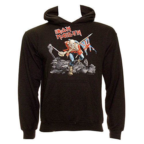 Tee Shack Iron Maiden The Trooper Eddie Bruce Dickinson Oficial Sudaderas Capucha Hombre (X-Large)