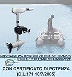BOUDECH Motore Elettrico Fuoribordo Bianco per Barca Gommone con Elica a Tre Pale e Certificato di Potenza. Disponibili Due potenze 46Lbs/62Lbs (62 Lbs)