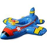 Asdomo Baby Kleinkind Flugzeug Aufblasbare Schlauchboot Schwimmsitz Kinder Schwimmring Badesitz Schwimmreifen Sitz Pool Boot für Kinder Strand Badespielzeug, für 1-5 Jahre