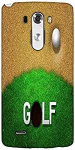 Snoogg Ball In Sand Golf Background Designer Protective Back Case Cover For LG G3