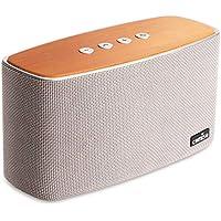 COMISO Altavoz Bluetooth Estéreos Premium 30W con Radiador Pasivo, Altavoz inalámbrico Portátil Subwoofer, 3D Sonido Digital con 20 Horas de Emisión Continua Manos Libre (Gris)