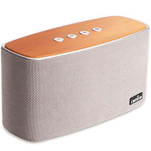 COMISO 30W Altoparlante Bluetooth Senza Fili Stereo Cassa Portatile Speaker Bluetooth, Raggio d'azione fino a 20 m, Qualità superiore bassi per iPhone, telefono cellulare e Tablet (grigio)
