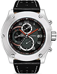 952ff03498fe Grant Men Cool Watches Chronograph Design Big Quartz Stainless Steel Casual  Watch Waterproof with Date