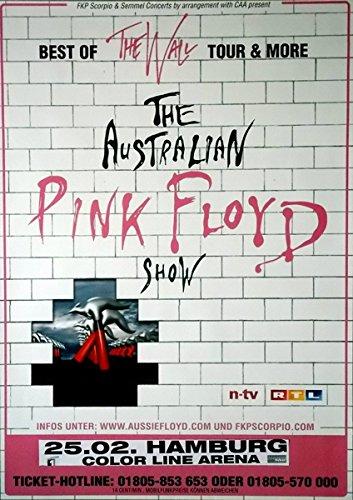 Australie pINK fLOYD sHOW - 2008-konzertplakat-best of wall -