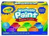 Crayola - 6 Colori a Tempera Lavabili per Bambini
