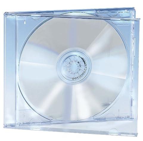 Jewel Case CD Ednet avec le cristal plateau CD clair