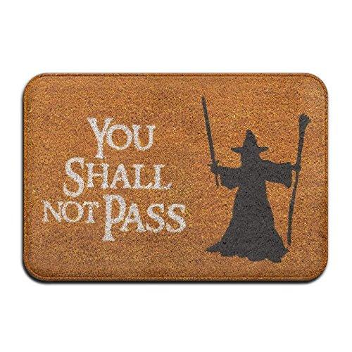 zengjiansm Fußmatten You Shall NOT Pass Cool 15.7 X 23.6 In Absorbent Anti Slip Floor Rug Carpet Door Mat