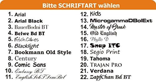 Hunde Wende- Halstuch (Fb: rot-orange) (Gr.1 – HU bis 29 cm) mit Ihrem Wunschtext - 4