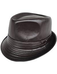 Chapeaux de cuir/PUChapeau/style britannique chapeau de jazz minimaliste