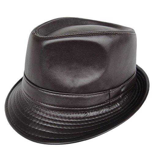 Cappelli di pelle/PUCappello/cappello di jazz minimalista stile britannico-A