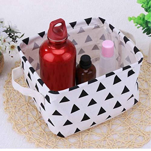 Spielzeug-speicher-organisator (Oulensy Desktop Sundries Storage Basket Tasche Faltbare kosmetisches Aufbewahrungsbehälter-Baumwolle Leinen Kinder Spielzeug-Organisator-Speicher Container)