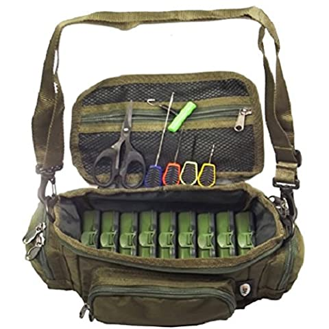 Mini Fishing Bag Carryall Baiting Needles Scissors 9 Tackle Boxes Carp Set / Fishing Angling Fish Rods Tackle Pole Folded Crab Folding Minnow Portable Bottom Bouncer Lobsters Crawfish Smelt Eels Shrimp Hook Lures Crappie Equipment Supplies Salmon Shop Store Tools Rattle Perch Baitfish Ice Netting Basket Gear Trapping Wire Float Box Catcher Catfish Tunna Spring Gadget Gift Durable Professional