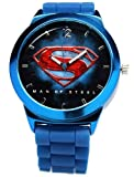 Superman Man of Steel Watch Blue silicone Band (MOS9009)