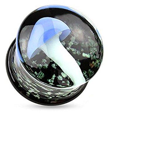 2GB (6 mm) Fusion Fall Schwimm Pyrexglas Flesh Tunnel-Ohr-Piercing Jewelllery 2gb Fall