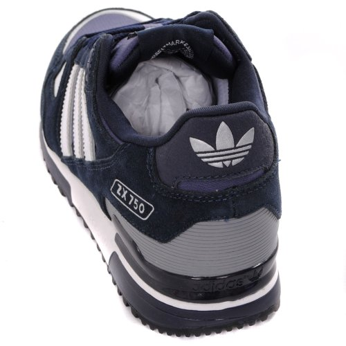 buy popular 30700 9465a Adidas Originals ZX 750 Trainers - Navy White