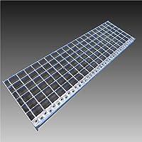 Escaleras metal Nivel/Ancho: 60cm profundidad: 24cm/Malla: 30x 30mm/peldaños de rejilla Acero galvanizado