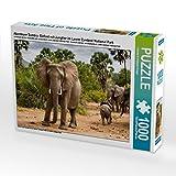 Abenteuer Sambia: Elefant mit Jungtier im Lower Zambezi National Park 1000 Teile Puzzle quer (CALVENDO Orte)