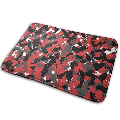 huibe Badematte aus Memory-Schaum, Bloodshot Camo Red Urban Anti-Rutsch-Teppich für Wohnzimmer, Schlafzimmer, Büro, schnell trocknend, 40 x 60 cm